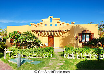 Villa decoration at the luxury hotel, Sharm el Sheikh, Egypt
