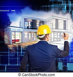 villa, design, projekt