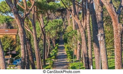 Villa Doria Pamphili park in beautiful town of Albano...