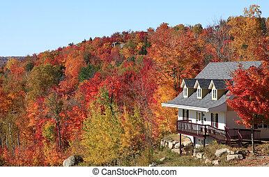 Villa in autumn, Mont Tremblant