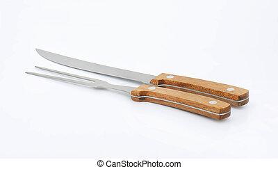 villa, kés, faragás