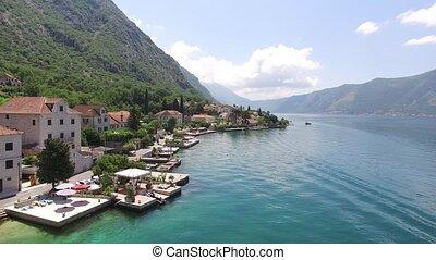villa, ljuta., kotor, baie, montenegro, village