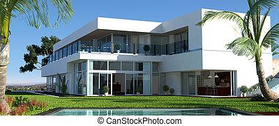 villa, luxus