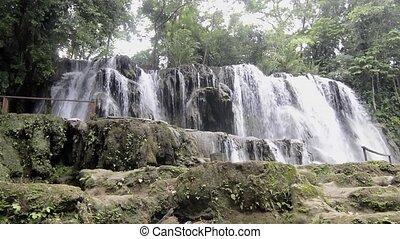 Villa Luz waterfalls near Tapijulapa, Tabasco, Mexico. ...