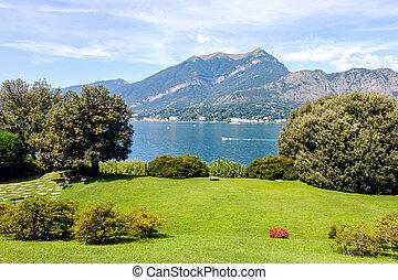 Villa Melzi Garden in a sunny day