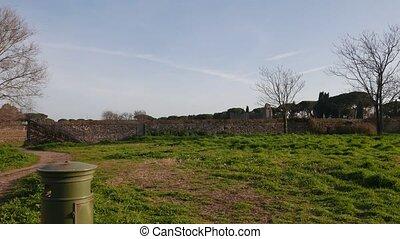ancient Roman villa in Rome, Italy - Villa of the Quintilii...