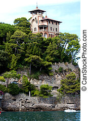 Villa on the rock, Portofino, Italy