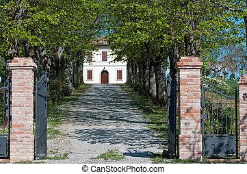 Villa Toscana - L'ingresso di una villa nella provincia...