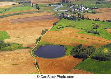 Village aerial view