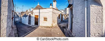 village Alberobello in Italy