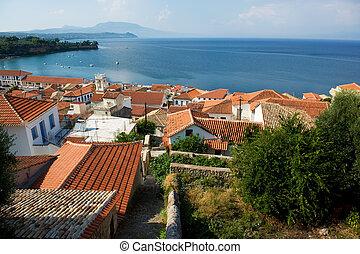 Village at Greek coast