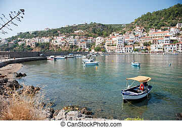 Village at the Greek coast
