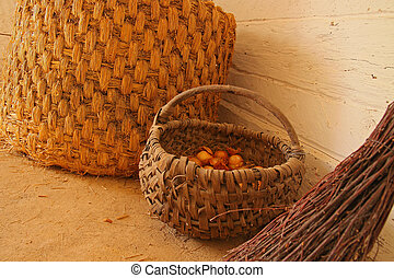 baskets - village baskets and broom