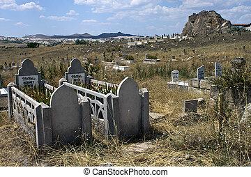 Village cemetery in Cappadocia, Turkey