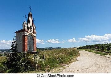 Village chapel in Piedmont , Italy