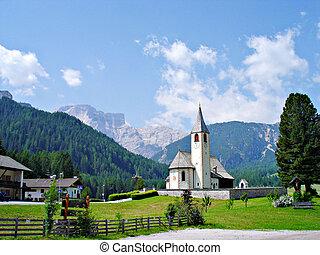 Village church in the Dolomites