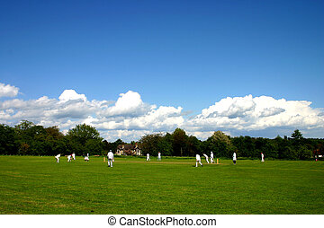 Village cricket - English village cricket match
