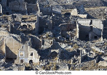 village demolished Roden - Roden village destroyed in a...