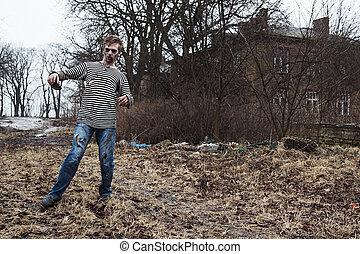 village, dernier, abandonnés, citoyen