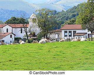 village, france, pays, basque