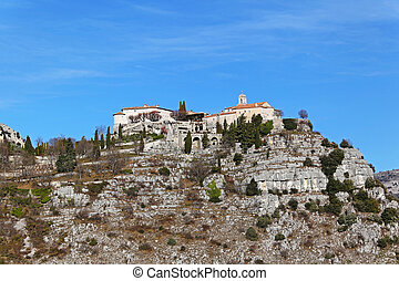 Village Gourdon at hill top in south France