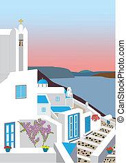 village grec, île