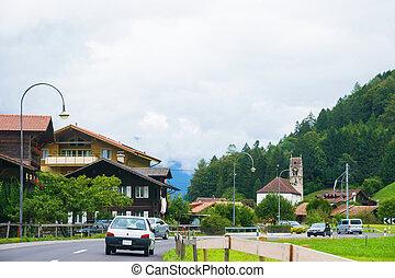 village, gsteig, oberhasli, gsteigwiler, interlaken, église, suisse, berne
