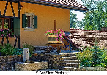 Village House in Yverdon at Jura Nord Vaudois Vaud...