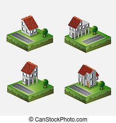 Village houses
