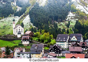Village in Alps