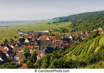 village in Alsace, France
