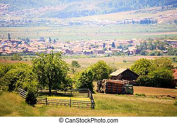 village in bulgaria - sunny still-life bulgarian village...