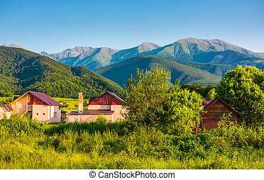 village in Fagaras mountains of Romania