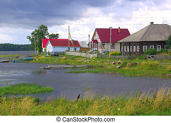 Village in Karelia, Russia