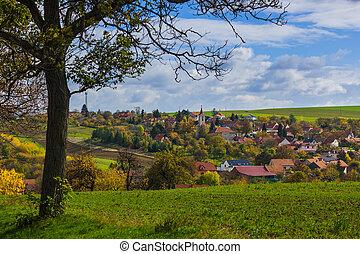 Village in Moravia - Czech Republic - nature and...