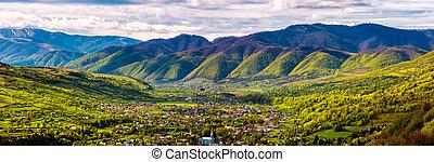 village in mountain valley