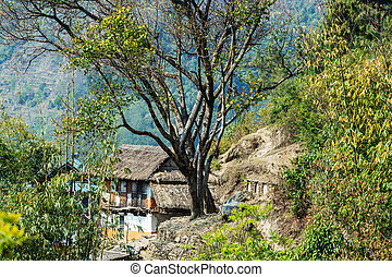 Village in Nepal - Village in the Nepalese mountains