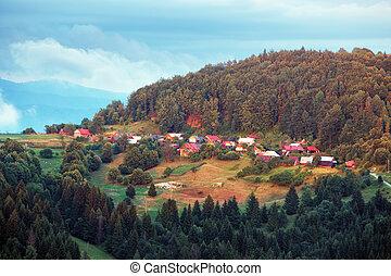 Village in Slovakia near town Cadca