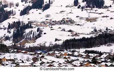 Village in suisse - Village lenk in berner oberland, suisse