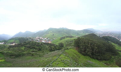 Village in Tenerife view, Canary Is - Village in Tenerife,...