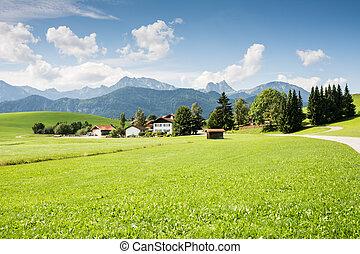 Village in the Allgaeu (Bavaria, Germany)