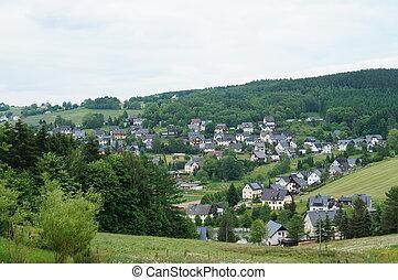 Village in the Erzgebirge in Saxony
