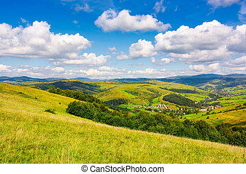 village in the valley of Carpathian mountains. lovely...