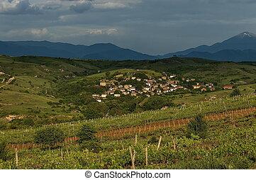 Village in the wine making region