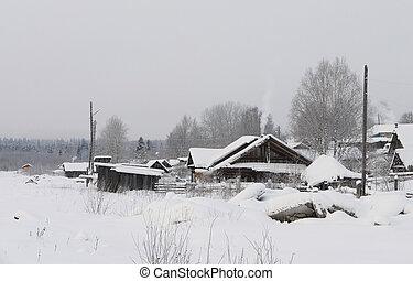village in winter