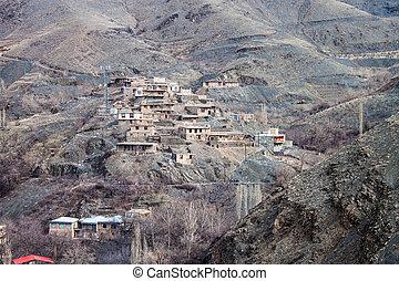 Village Kang in mountains near Mashhad, Iran