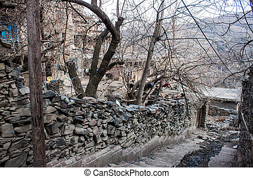 Village Kang in mountains near Mashhad, Iran