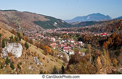 Village landscape in Romania