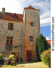 Village Loubressac, house, tower