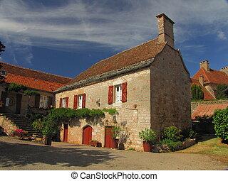 Village Loubressac, house,